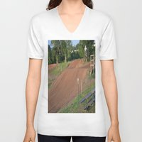 moto V-neck T-shirts featuring Moto by Dymond Speers