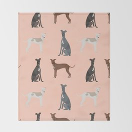 Italian Greyhound dog breed pet portrait unique pure breed gifts Throw Blanket