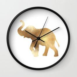 Gold Elephant Wall Clock