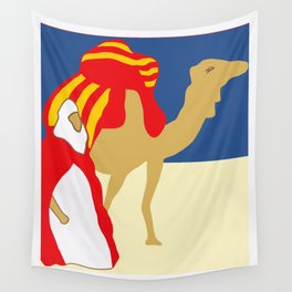 Vintage style 1920s Casablanca travel advertising Wall Tapestry