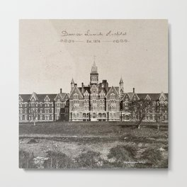 Danvers State Hospital (Danvers Lunatic Hospital), Kirkbride Metal Print