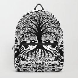 forest, birds, wolves, flowers Backpack