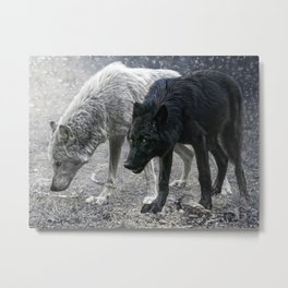 ivory and ebony Metal Print