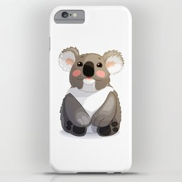 Lovely koala bear sitting and looking up. iPhone Case