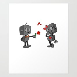 funny love caracter Art Print