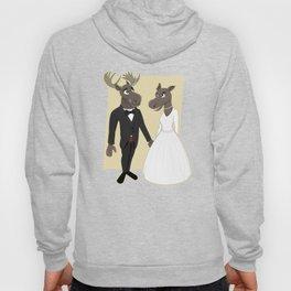 Moose Wedding Cartoon Hoody