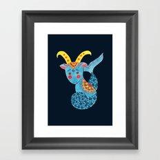 Blue Capricorn Framed Art Print