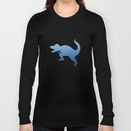 T-Rex Blue Long Sleeve T-shirt