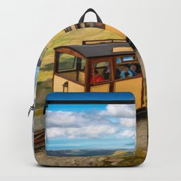 Mountain Train Snowdon Wales Backpack