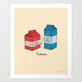 Milkshake Art Print