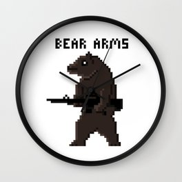 Bear Arms Wall Clock