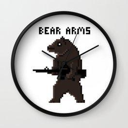 Bear Arms Wall Clock