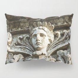 Chicago Architectural Detail Ornamental Column Face Pillow Sham