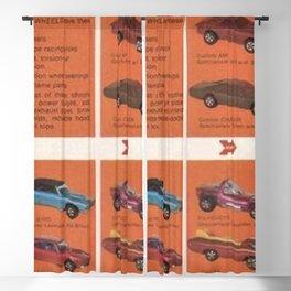 1969 Hot Wheels Redline Catalog Poster No 8 Blackout Curtain