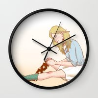 luna lovegood Wall Clocks featuring Luna Lovegood by zeina