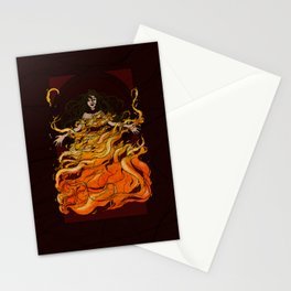 Girl on Fire Stationery Cards