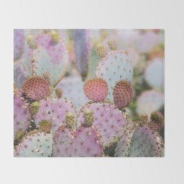 Cotton Candy Cacti Throw Blanket