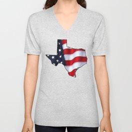 Patriotic Texas Unisex V-Neck