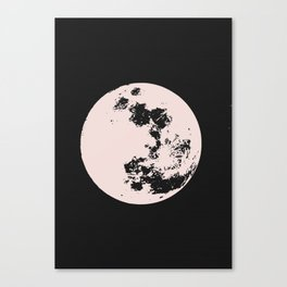 Full moon in pink Canvas Print