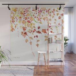 Vines Watercolor Wall Mural