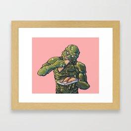 Taco Tuesday 01 - Monster of the lake Framed Art Print