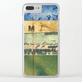 M Stripe Clear iPhone Case