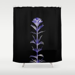 Purple Blooms Abstract city chic flower Shower Curtain