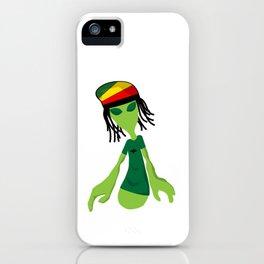 Rastafari Alien Smoking Weed Rasta Marijuana Smoker design iPhone Case