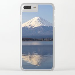 Mt.Fuji from lake Kawaguchiko, Japan Clear iPhone Case