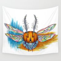 bug Wall Tapestries featuring Bug by Mr Sarah Lou