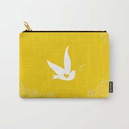 Love and Freedom - Gold/Yellow Carry-All Pouch