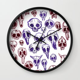 bestiary in color Wall Clock