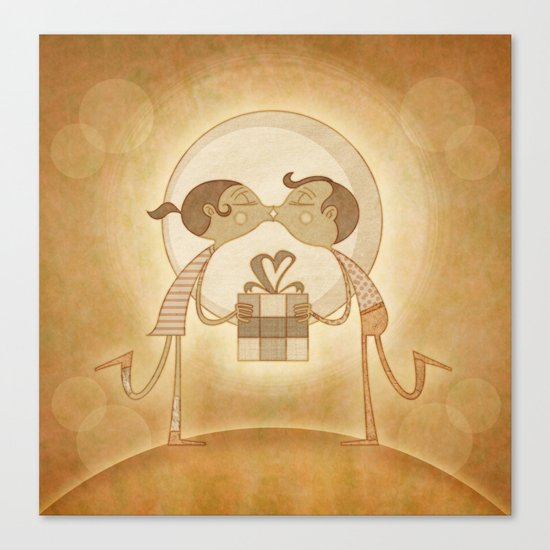 Beso2 Canvas Print