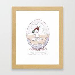 ee cummings - Maggie Framed Art Print