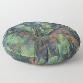 Paul Cezanne - Quarry at Bibémus Floor Pillow
