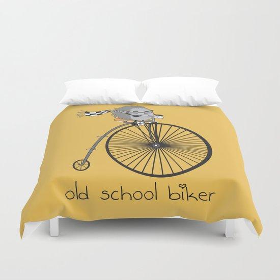 old school biker Duvet Cover