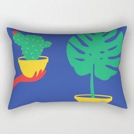 Plants Colour Block Rectangular Pillow