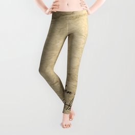 The broken girls are the flowers of the earth they grow through tough conditions they bloom for them Leggings
