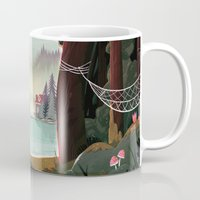 beaver Mugs featuring Camp Beaver by Manuel Kilger