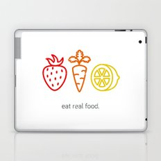 Eat Real Food. (light) Laptop & iPad Skin