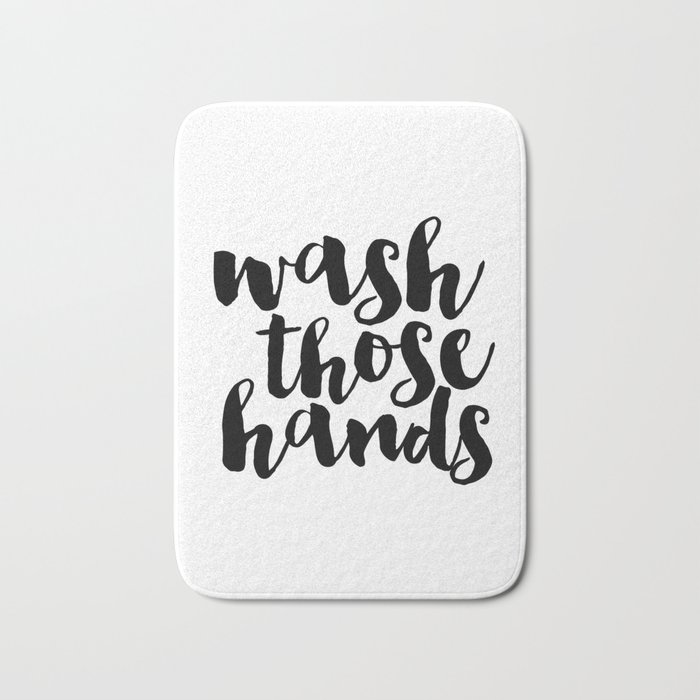 Bathroom art Bathroom sign Printable Hand lettered Nursery Decor kids Bathroom Wall art Print Bath Mat