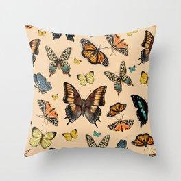 Inspirational butterflies & moths warm tones collection Throw Pillow