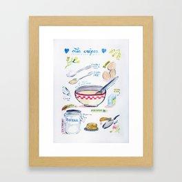 La recette des crêpes Framed Art Print