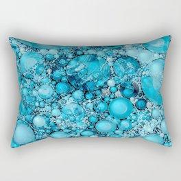 Ocean Atlantic Blue Bubble Abstract Rectangular Pillow