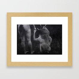 Deer Lovers Framed Art Print