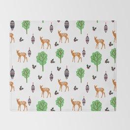 Xmas Deer Pattern Throw Blanket