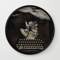 typewriter Wall Clocks featuring Typewriter by Tom Melsen
