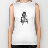 darth vader Biker Tanks featuring Darth Vader by Jon Hernandez