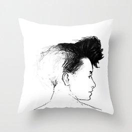 Quiff Throw Pillow
