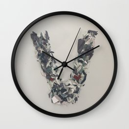Letter V in Paint Wall Clock